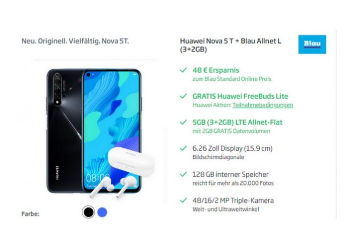Blau Allnet Flat mit Huawei Nova 5T