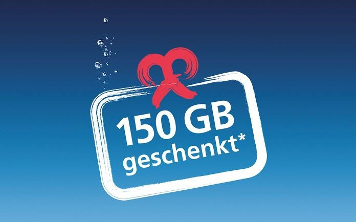 o2 150 GB geschenkt