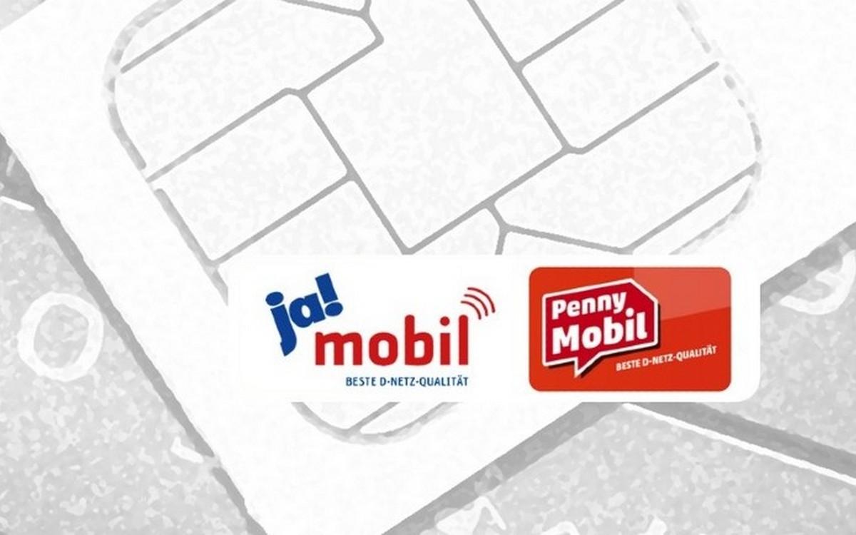 Mehr Datenvolumen bei ja! mobil und Penny Mobil