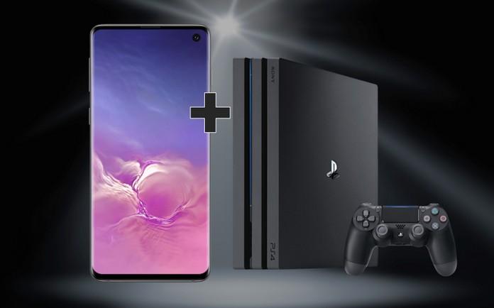 PS4 + Samsung Galaxy S10