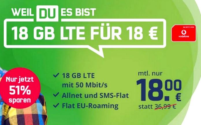mobilcom-debitel startet im Mai mit 18 GB LTE für 18 Euro durch