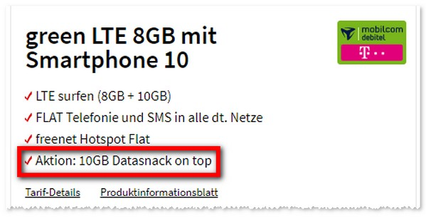 mobilcom-debitel Data-Snack