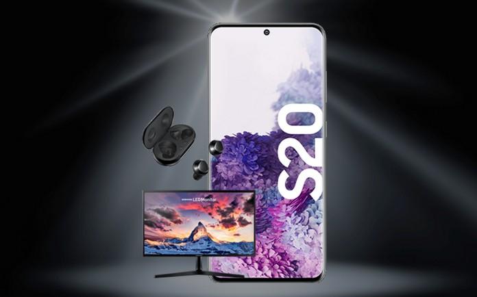 Samsung Monitor und Galaxy Buds+ zum Samsung Galaxy S20 (Plus, Ultra) bei o2