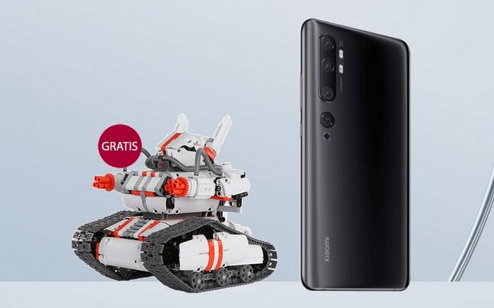 Bestellst du bei Telekom oder congstar ein Xiaomi Mi 10 Pro vor, kannst dich für die Zugabe Xiaomi Mi Robot Builder Rover registrieren. Der appgesteuerte Roboter ab 10 Jahren lässt sich (leider) auch zum Panzer umbauen