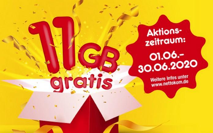 Bei NettoKom gibt's im Juni 11 GB Datenvolumen gratis anlässlich des 11. Geburtstags