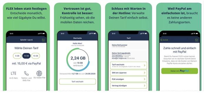 freenet FLEX: 3 Tarife per App auswähl- und steuerbar