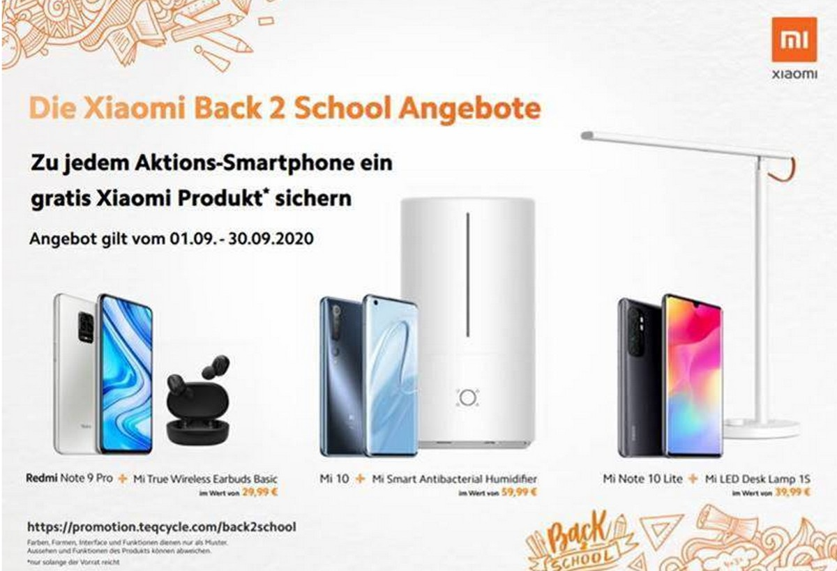 Xiaomi Back 2 School Aktion