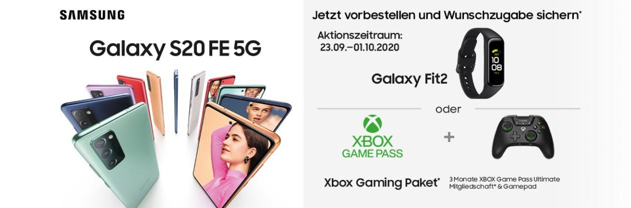 Samsung S20 FE Vorbesteller Aktion mit Wunschzugabe