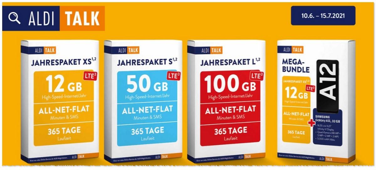 ALDI TALK Jahrespaket 100 GB