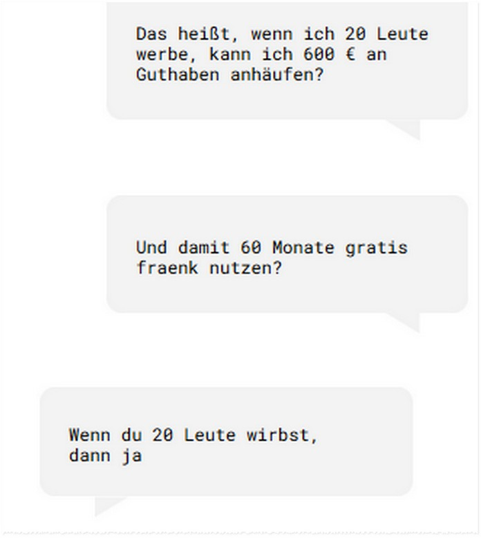 fraenk Freunde werben