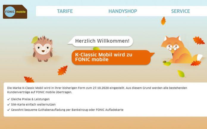 Marke eingestellt - K-Classic mobil wird Fonic mobile