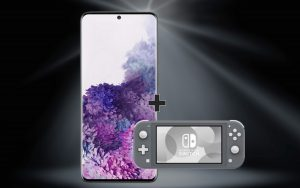 Nintendo Switch Lite zum Samsung Galaxy S20 Plus