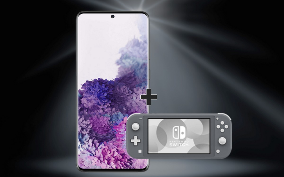 Nintendo Switch Lite zum Samsung Galaxy S20 Plus