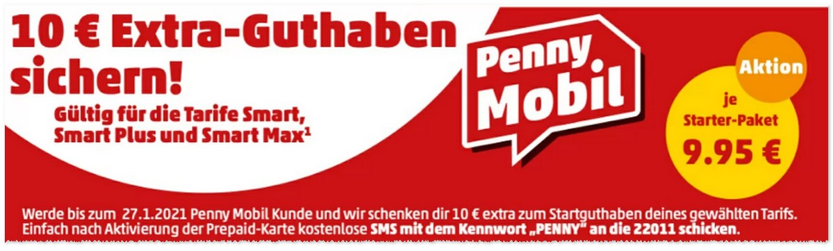 PENNY mobil Extra-Guthaben