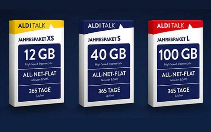 Die 3 ALDI TALK Jahrespakete (2020) kommen ohne SIM-Karte daher