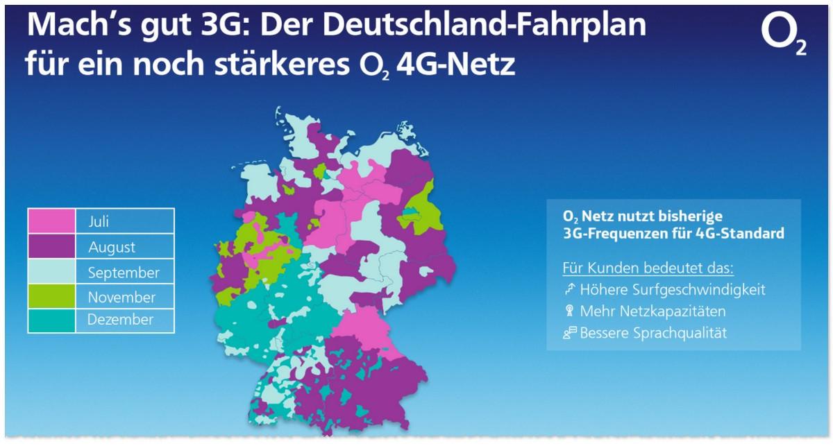 o2 3G Abschaltung Fahrplan