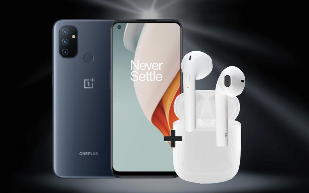 Aktuell kannst du dir die Neuheit OnePlus Nord N100 mit Kopfhörern zum günstigen Vertrag sichern - und das im Vodafone-Netz