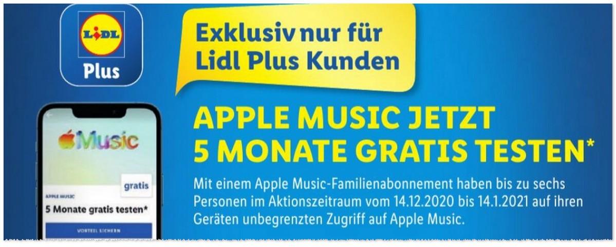 Apple Music gratis testen LIDL Plus