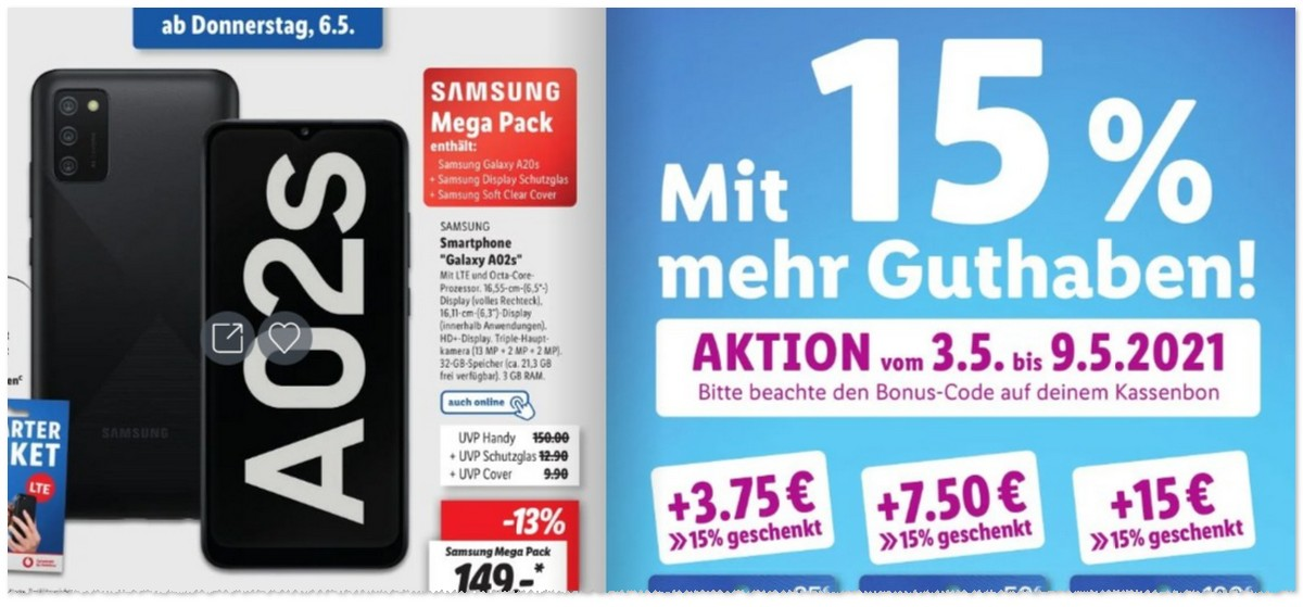 LIDL Smartphone: Galaxy A02s