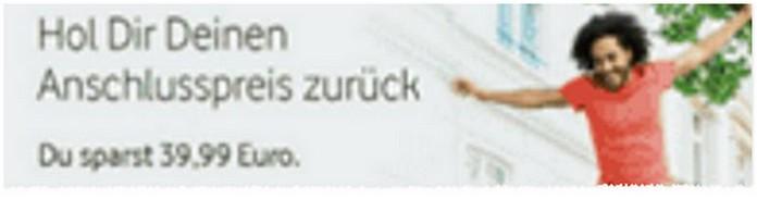 In der Mein-Vodafone-App klickst du auf den Banner: Hol dir deinen Anschlusspreis zurück