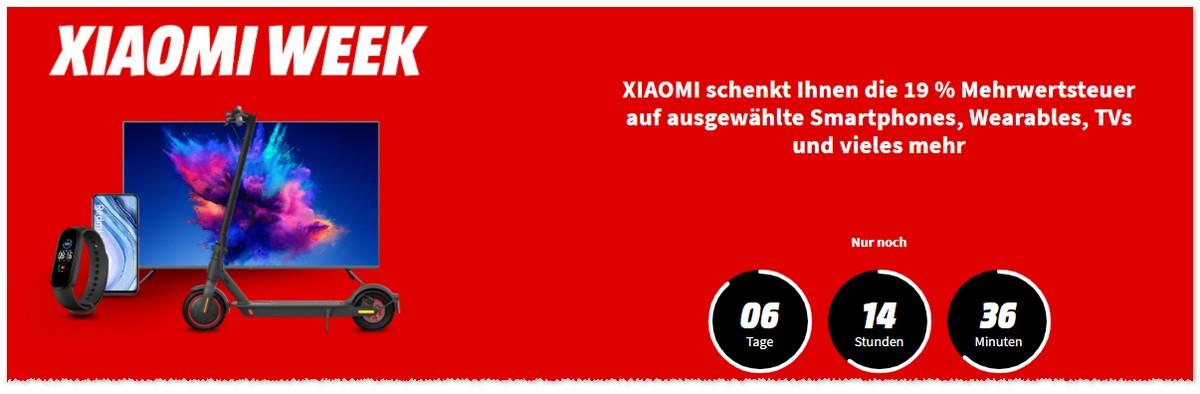 Xiaomi Woche mit 19% MwSt.-Rabatt
