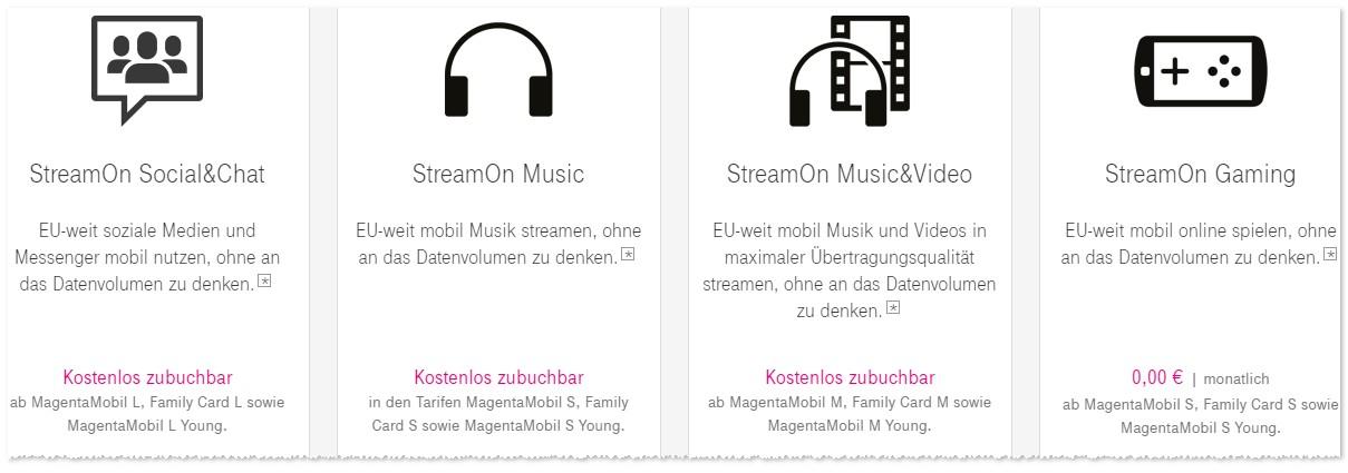 Telekom Stream On Optionen