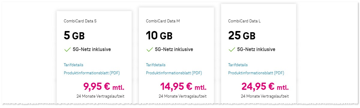 Telekom Zweitkarten Combi Card