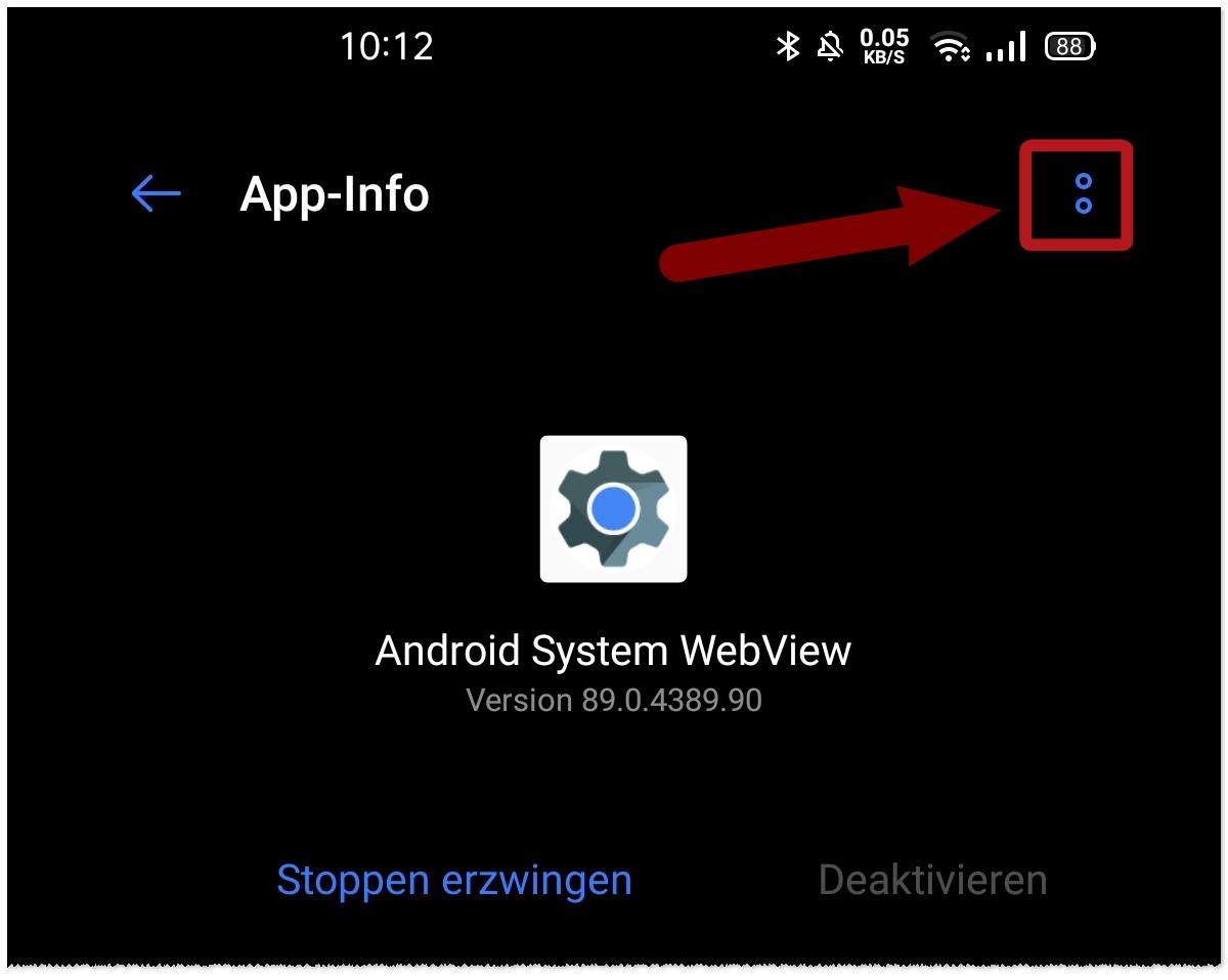 App-Abstürze Web View