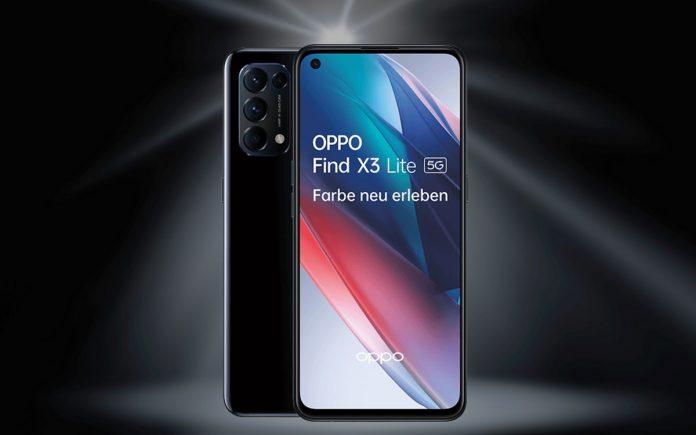 Blau mit Oppo Find X3 Lite