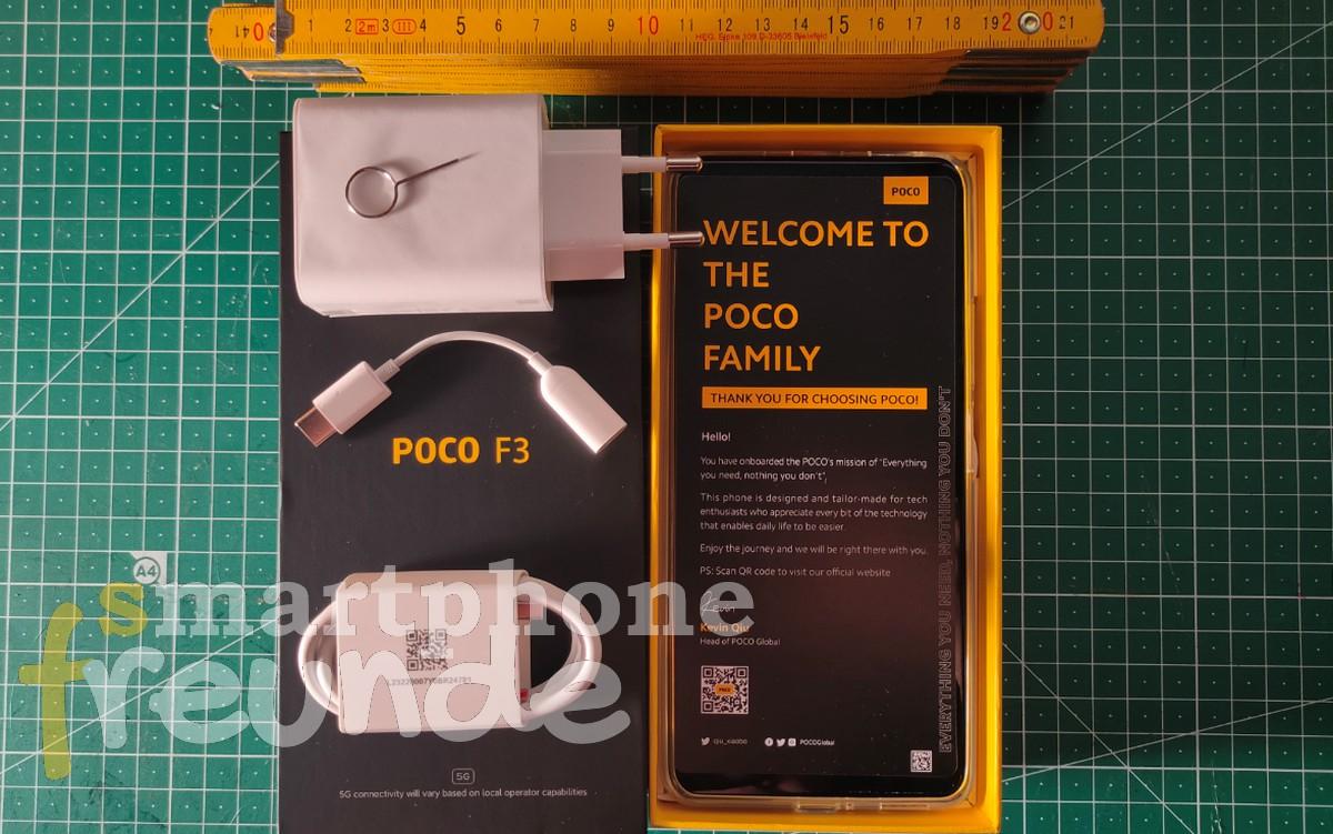 POCO F3 Unboxing und Inhalt