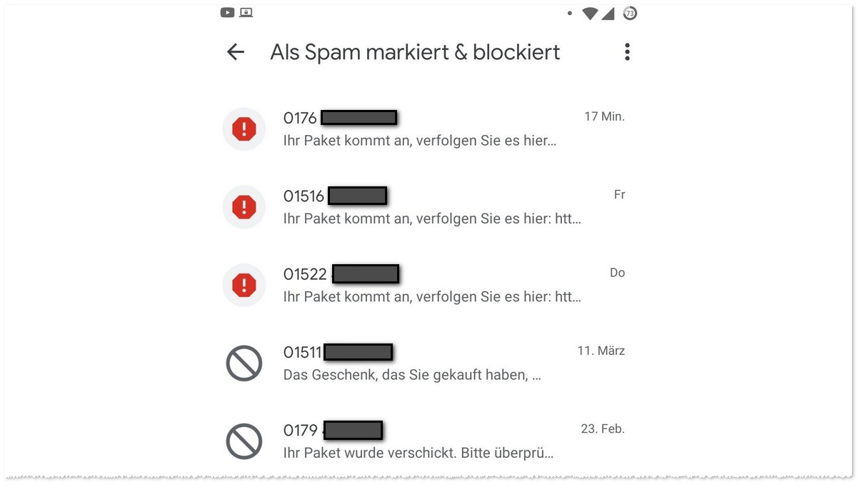 Spam-SMS: Pakete verfolgen