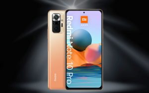 Blau und Xiaomi Redmi Note 10 Pro