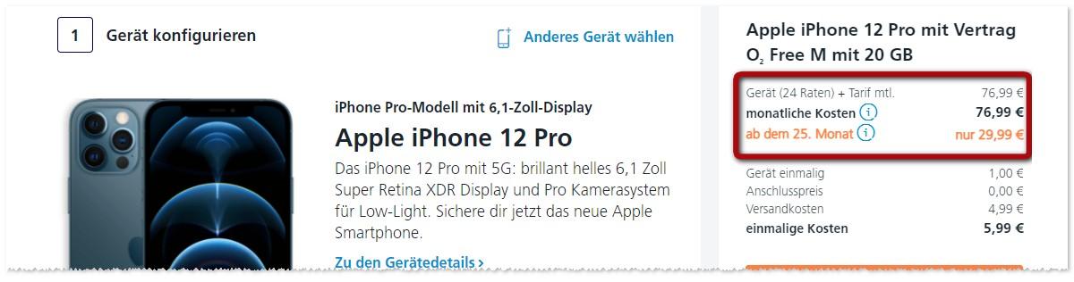 o2 Handys für 1 €