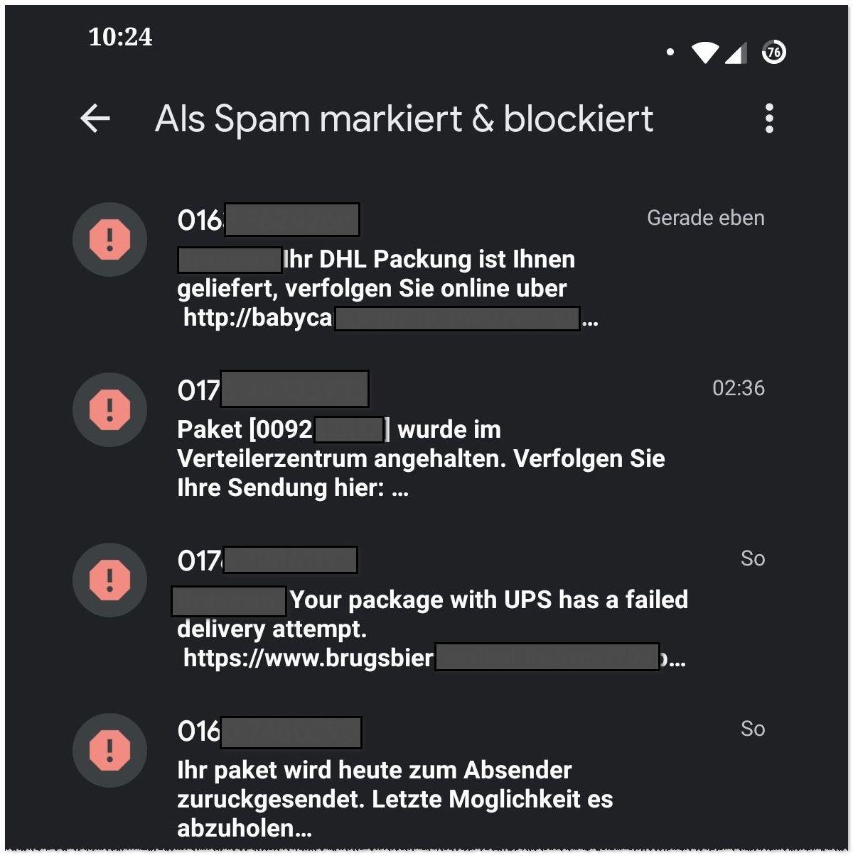 Spam per SMS: UPS, DHL