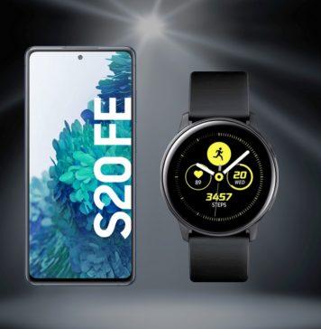 Samsung Galaxy S20 FE (4G) mit Smartwatch (Watch Active)