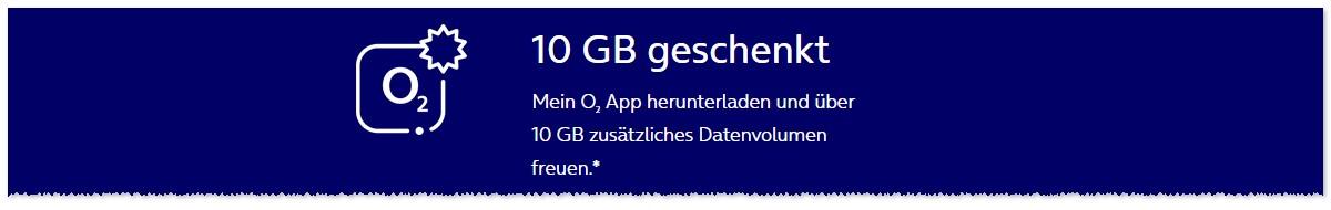 o2 10 GB App-Geschenk