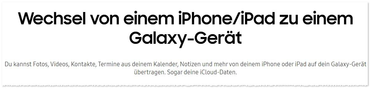 Smart Switch: Wechsel von iPhone zu Galaxy