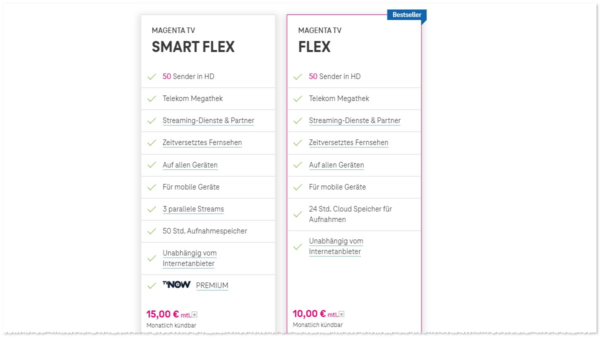 Telekom Magenta TV Flex