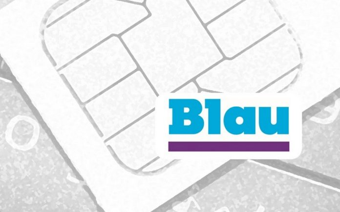 Blau SIM ohne salabim