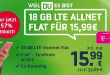 Telekom green LTE 18 GB (md) Aktion für 15,99 € im Monat